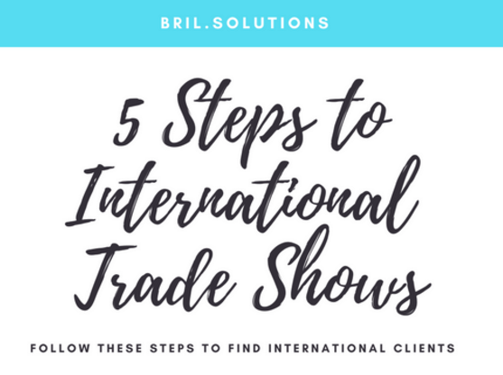 5 Steps Trade Show international business development